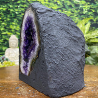 """GIFT FROM ABOVE"" Lustrous Amethyst Geode 5.50 High Quality Cathedral Brazil NS-284"