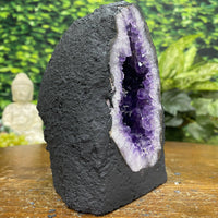 """GOOD LUCK CHARM"" Amethyst Geode 5.00 High Quality Cathedral Brazil Crystal NS-289"