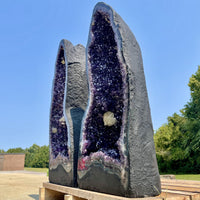 Amethyst Geode Uruguay 6.75 Huge Calcite High Quality QQ-35s