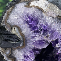 """CRASHING WAVES"" Amethyst Geode Cathedral 5.00 High Quality Flower Formations NS-292"