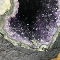 """ALL NIGHT CALCITE"" Amethyst Geode 5.00 High Quality Brazil Cathedral NS-294"