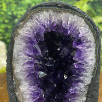 """LOLLIPOP"" Amethyst Geode 6.00 Dark Purple Lustrous Cathedral Brazil NS-299"