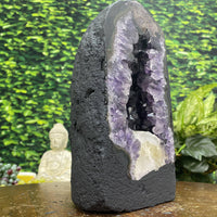 """BADA BOOM"" High Quality Amethyst Geode 9.00 Dark Purple Brazil Cathedral NS-301"