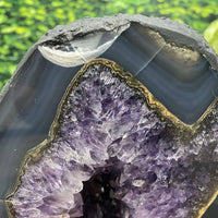 """PURE ROYALTY"" Amethyst Geode Cathedral Agate Rim 8.00 High Quality Brazil NS-317"