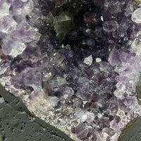 """GET YOUR ROCKS OFF"" Amethyst Geode 8.00 High Quality Cathedral Brazil NS-324"