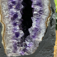 """SOARING EAGLE"" Amethyst Geode High Quality 7.00 Cathedral Brazil NS-329"