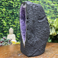 """FENG SHUI FUNNEL"" Amethyst Geode Cathedral 7.00 High Quality Brazil NS-331"