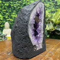 """SHARK FIN"" Amethyst Geode High Quality 5.50 Dark Purple Cathedral NS-334"