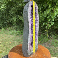 "TALL Amethyst Geode ""LUSTROUS MIRACLE"" 21.50 Cathedral HIGH QUALITY Crystal NS-58"