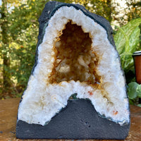 """ANSWERS FOR ALL"" High Quality Citrine Geode 7.00 High Quality Feng Shui NS-369"