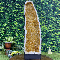 """GOLDEN SLUMBERS"" Tall Citrine Geode 26.00 High Quality Cathedral Brazil NS-384"