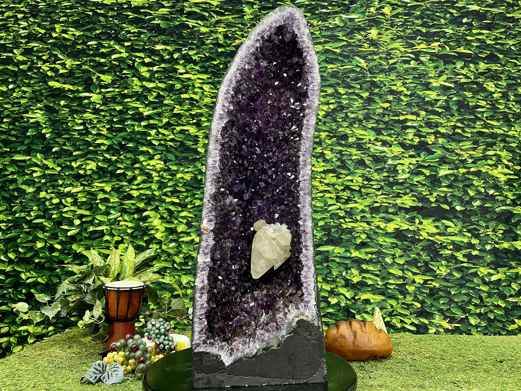 "Amethyst Geode  ""HEAVENLY HEALING"" 31.00 High Quality Crystal Cathedral NS-419"