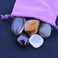 """Wealth"" Healing Gemstone Collection Bag"