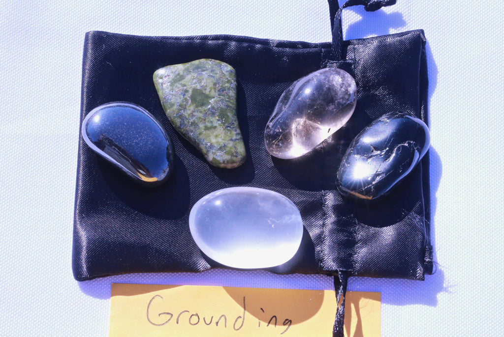"""Consistency / Balance / Grounding"" Healing Gemstone Collection Bag"