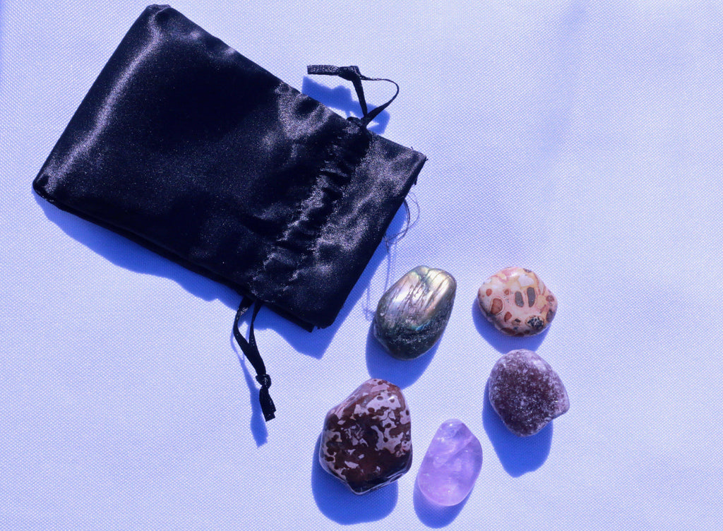 """Restful Sleep"" Healing Gemstone Collection Bag"
