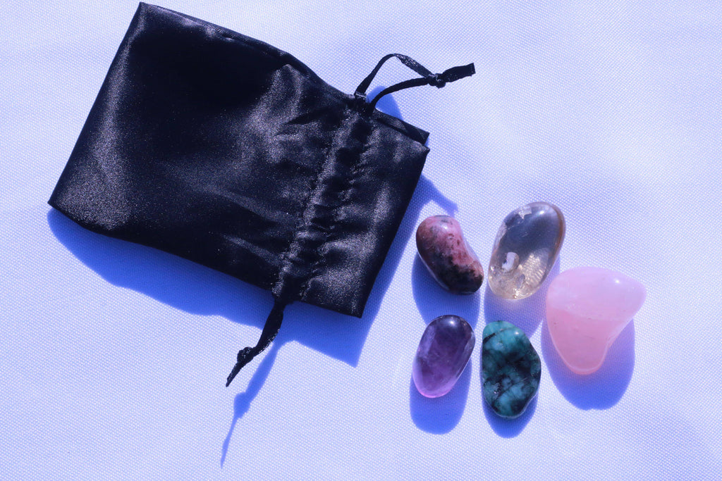 """Love"" Healing Gemstone Collection Bag"