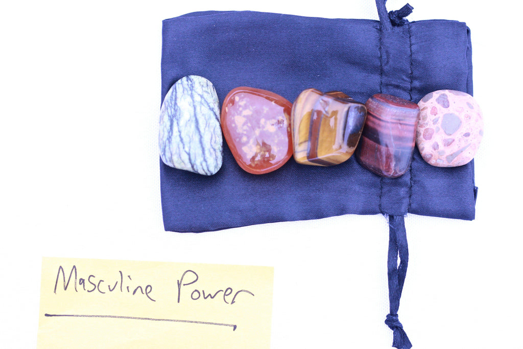 """Strength"" Healing Gemstone Collection Bag"