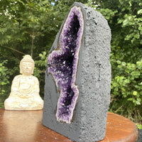 "Amethyst Geode ""BEAUTIFUL BUTTERFLY"" 10.00 High Quality Cathedral DARK PURPLE NS-98"