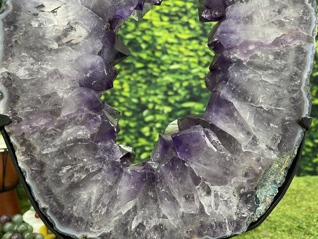Amethyst Geode Cathedral Church 9.25 Rare Mineral BB-297
