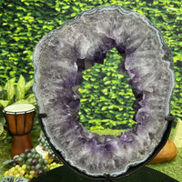 """CELESTIAL WREATH"" Amethyst Geode Slice 16.00 Brazil High Quality NS-403"