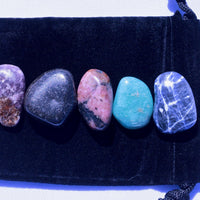 """Calming / Stress & Anxiety"" Healing Gemstone Collection Bag"