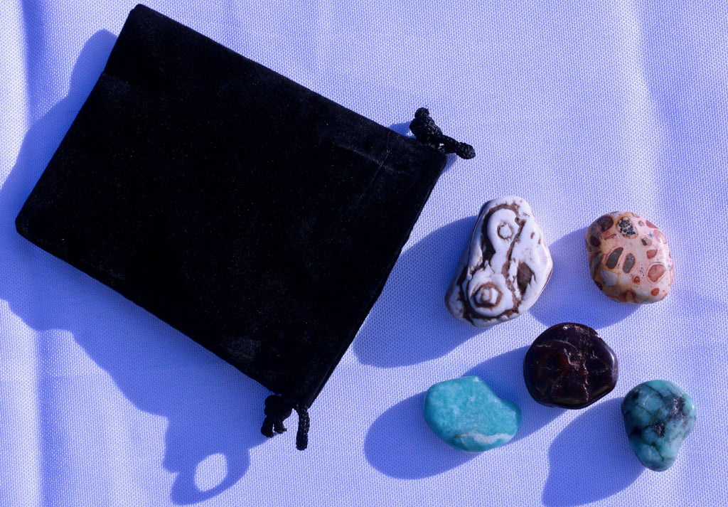 """Health & Wellness"" Healing Gemstone Collection Bag"