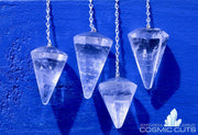 Clear Quartz Chakra Healing Pendulum Crystal Jewelry Gemstone JJ-22