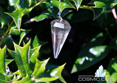 Smoky Quartz Pendulum Chakra Healing Crystal Jewelry Gemstone JJ-24