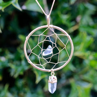Dreamcatcher Clear Quartz Chakra Healing Jewelry