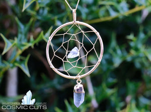 Dreamcatcher Clear Quartz Chakra Healing Crystal Jewelry JJ-12