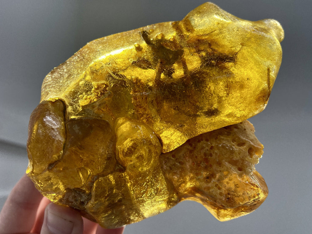 """EARTH, WIND, & FIRE"" Natural Amber Specimen 7.00 Super Rare Mineral High Quality A-4"