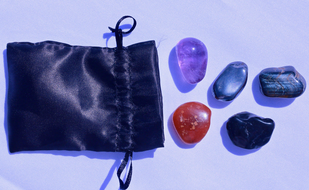 """Sobriety / Addiction Recovery"" Healing Gemstone Collection Bag"