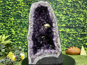"""SOUL'S YOGA MAT"" Huge Amethyst Geode High Quality 19.00 Brazil Crystal NS-501"