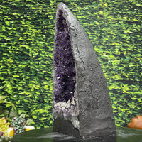 "Deep Huge Amethyst Geode ""Sink or not to Sink?"" 16.25 High Quality Self Standing w Calcite LL-85s"