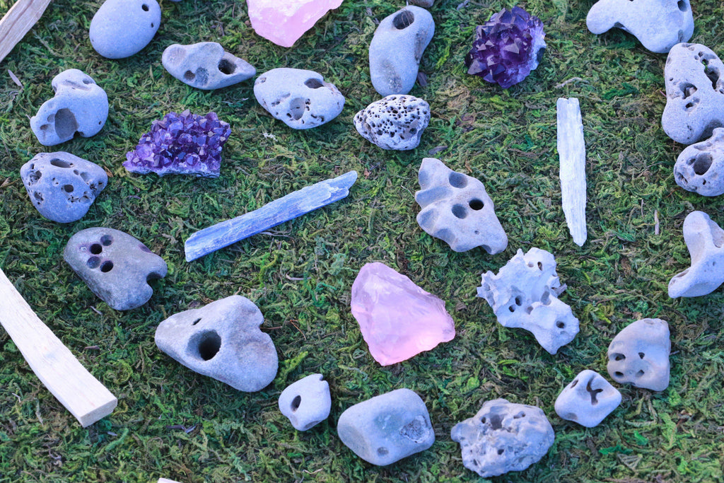 Natural Hag Stone Fairy Stone Holey Stone Cosmic Cuts C They have been called by many names over the. usd