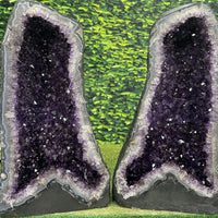 """ARMS OF THE ANGEL"" Amethyst Geode Pair 25.00 High Quality Cathedrals NS-520"
