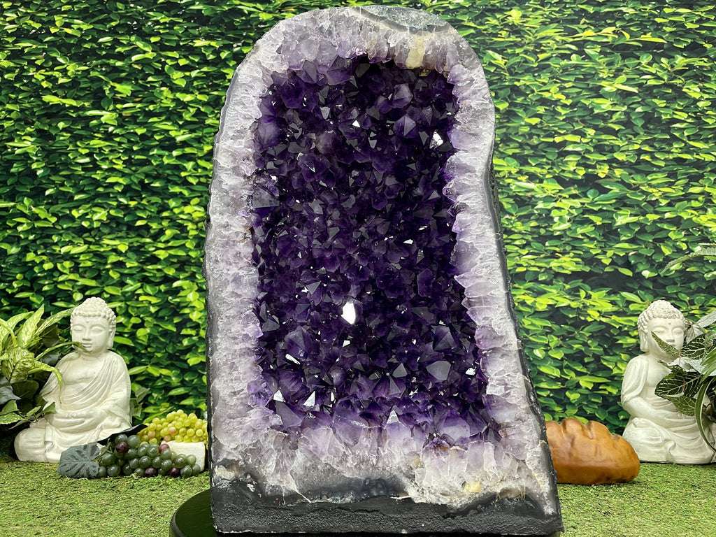 """FESTIVAL OF LIGHTS"" Huge Amethyst Geode High Quality 23.00 Wide Cathedral NS-521"