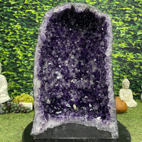 """ONE LOVE"" Deep Amethyst Geode 20.00 High Quality Crystal Brazil NS-523"