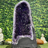 """PURPLE PEACE PRIZE"" Amethyst Geode Cathedral 25.00 High Quality Dark Purple NS-524"