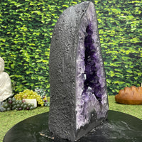 """TRIANGLE OF TRUTH"" Amethyst Geode Cathedral 17.00 High Quality Brazil Cathedral NS-527"