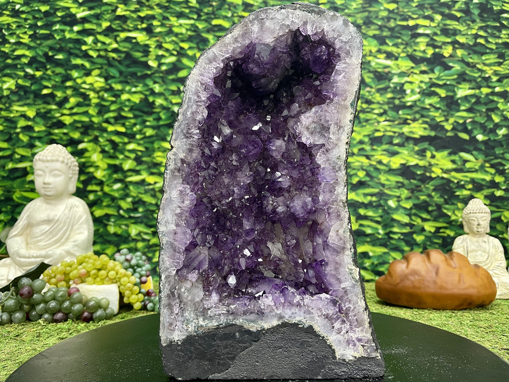 """RECEPTACLE OF REJUVENATION"" Amethyst Geode Cathedral 12.50 Brazil High Quality NS-535"