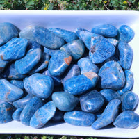 "Tumbled Blue Apatite Stone ""Releases Guilt"""