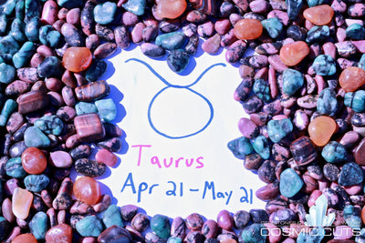 Taurus Zodiac Sign Healing Gemstone Collection Set