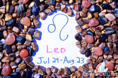 Leo Zodiac Sign Healing Gemstone Collection Set