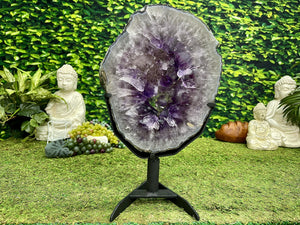 """GLORIOUS HEALING SLICE"" Amethyst Geode Slice 17.00 Brazil High Quality NS-561"