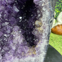 """OH BOY, OH BOY"" Tall Amethyst Geode 24.00 High Quality Cathedral NS-584"