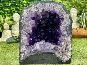 """ADVENTURE AWAITS"" Amethyst Geode Cathedral 9.00 High Quality Brazil NS-594"