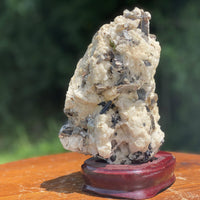 Mica in Calcite & Quartz Matrix w/ Stand ENERGETIC CONDUCTOR Glorious High Quality