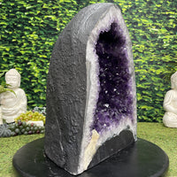 """CREATE YOUR IDEAL LIFE"" Amethyst Geode Cathedral 17.00 High Quality Brazil NS-604"