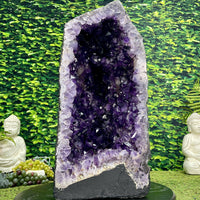 """DEEP JOYOUS WONDER"" Amethyst Geode 22.00 High Quality Cathedral Brazil NS-605"